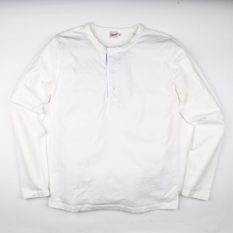 13 Ounce Henley L/S <span>White</span>