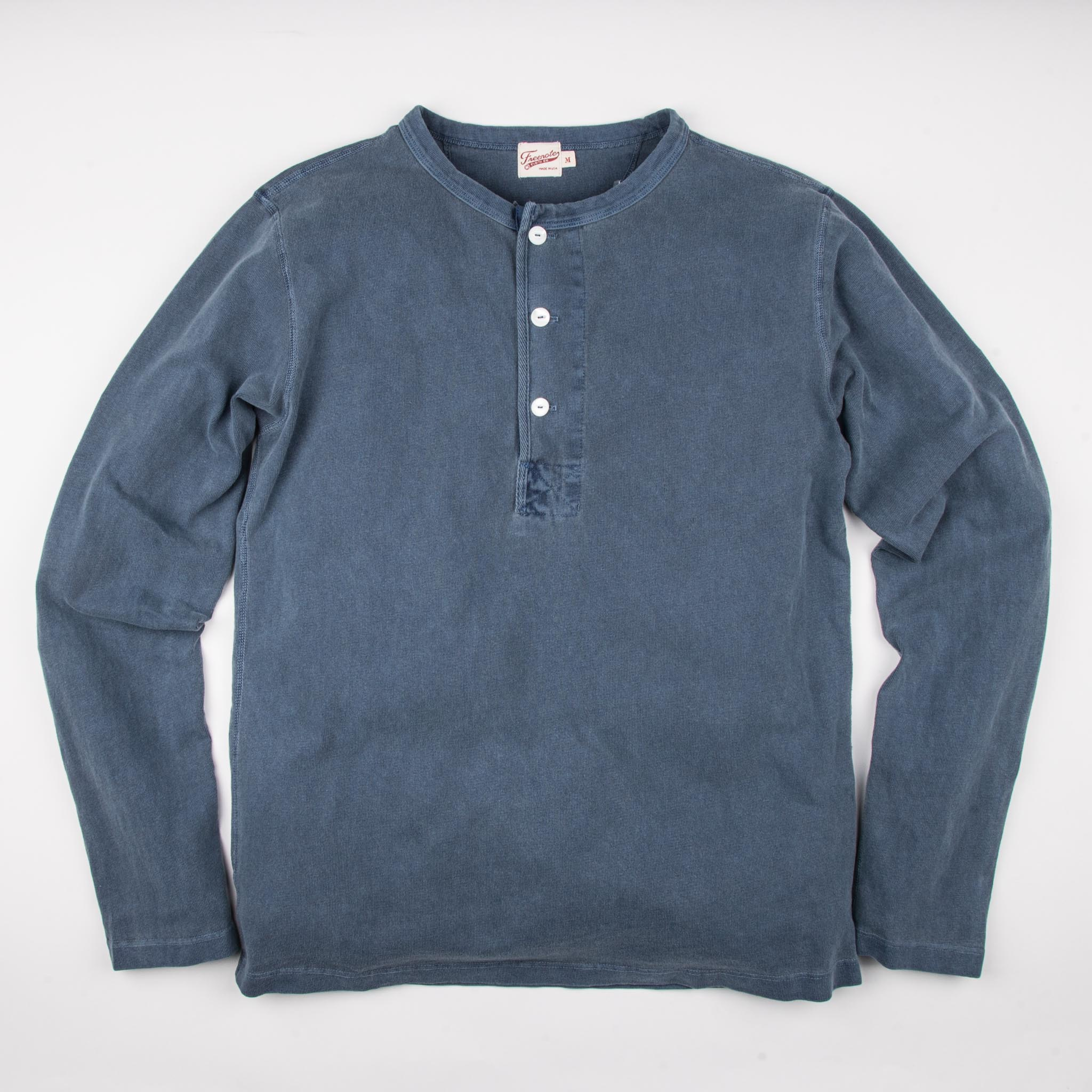 13 Ounce Henley L/S <span>Faded Blue</span>