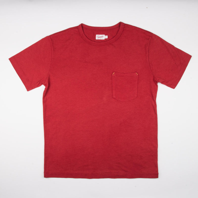 9 Ounce Pocket T-Shirt <span> Red </span>