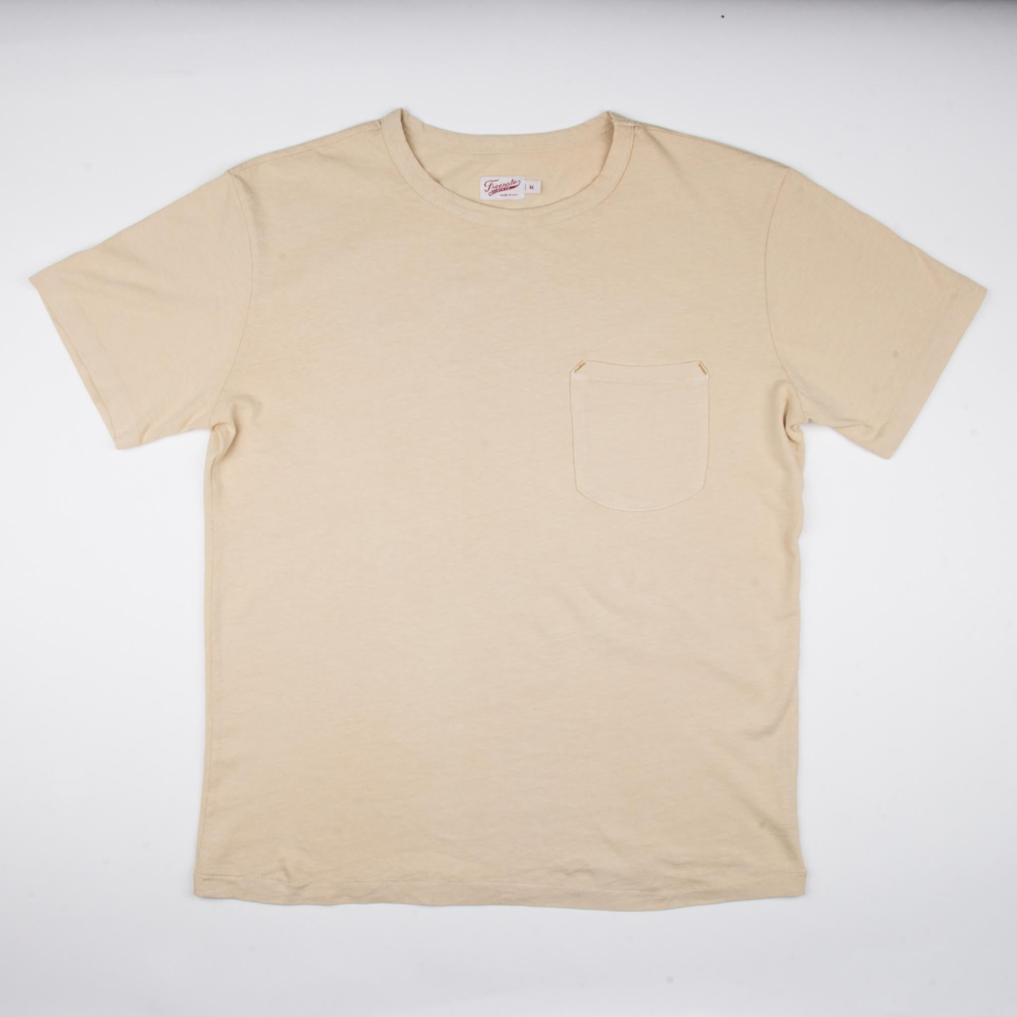 9 Oz Pocket T-Shirt <span> Cream </span>