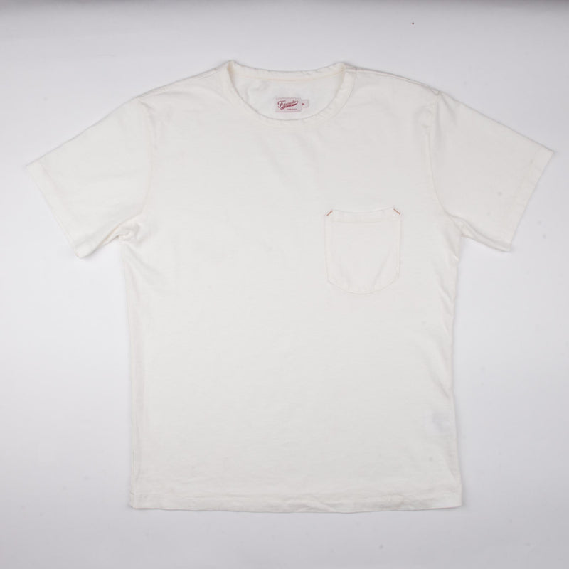 9 Ounce Pocket T-Shirt <span> White </span>