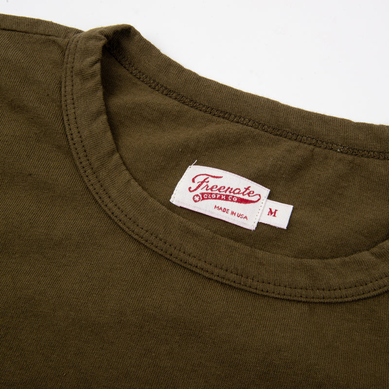 9 Ounce Pocket T-Shirt <span> Olive </span>