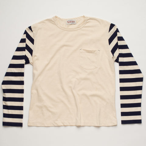Freenote Cloth | Shifter Long Sleeve - Stripe | $120