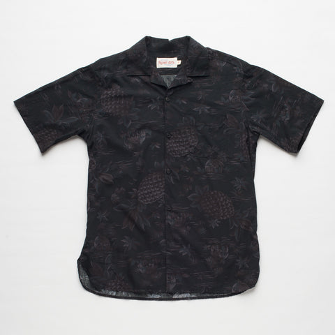 Freenote Cloth | Hawaiian Short Sleeve - Pineapple Black | $160