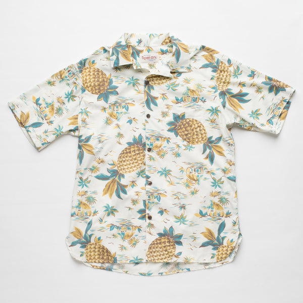 Freenote Cloth | Hawaiian Short Sleeve - Pineapple White | $160