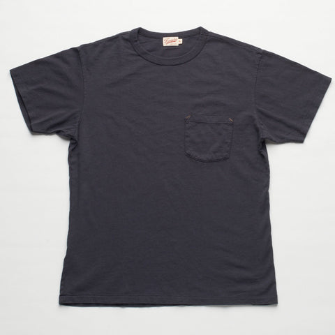 Freenote Cloth | 6 oz Mid Jersey Pocket T-Shirt - Black | $65