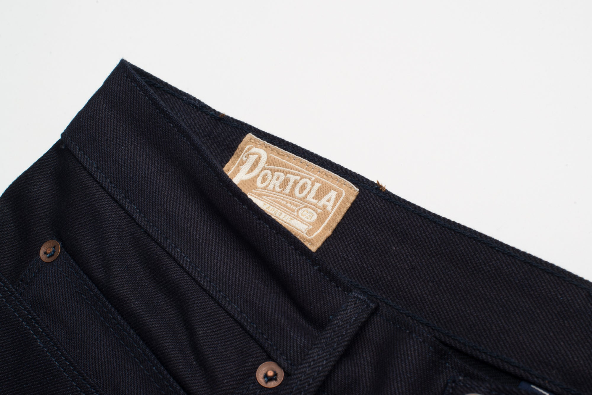 Portola 14.75 oz Blue Black Japanese Denim Portola