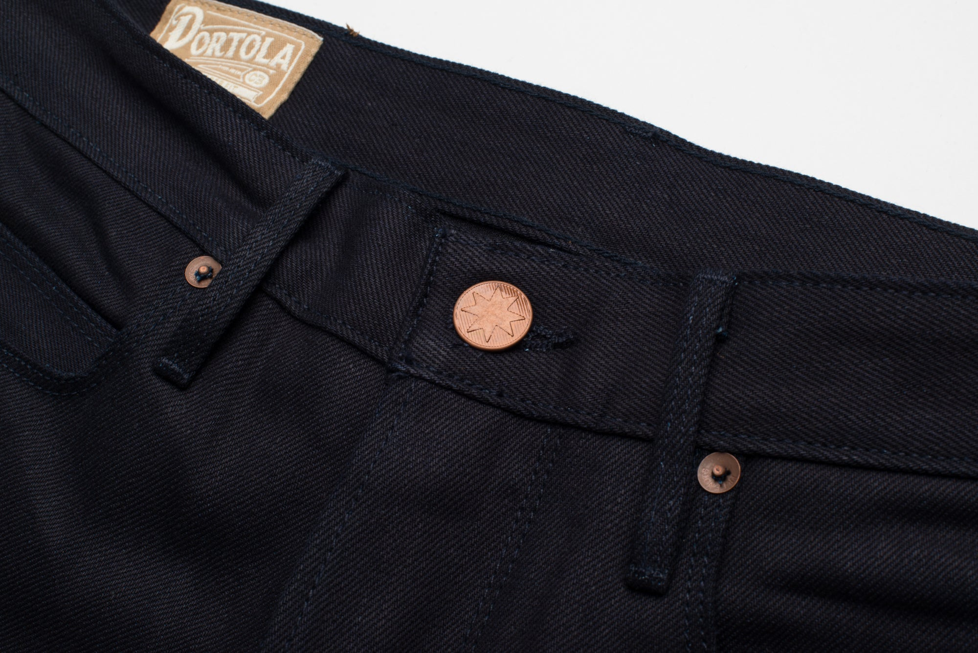 Portola 14.75 oz Blue Black Japanese Denim Front Button