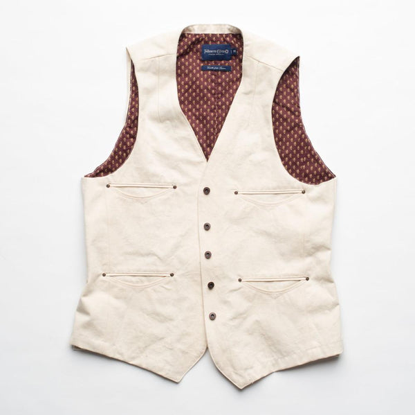 Freenote Cloth | Calico Vest |  Natural $170