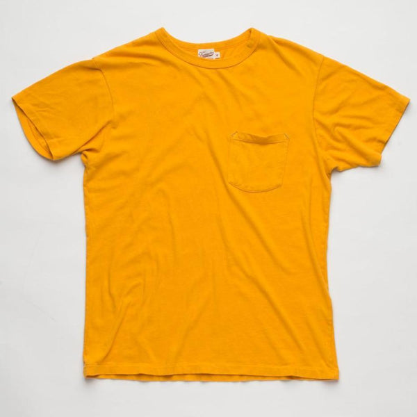 FREENOTE CLOTH | Vintage Wash Pocket T-Shirt| Gold $65