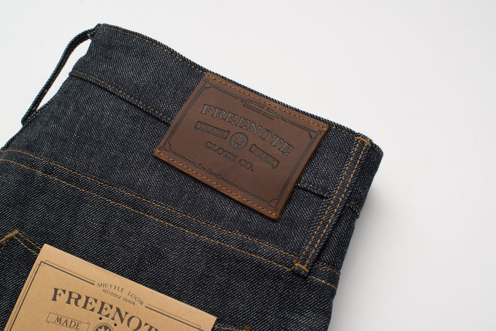 Freenote Cloth | Avila 13 oz Natural Indigo Leather Patch | $250