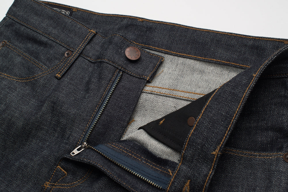 Freenote Cloth | Avila 13 oz Natural Indigo Zipper | $250