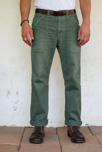 Freenote Cloth | Vagabond Chino - Olive | $240