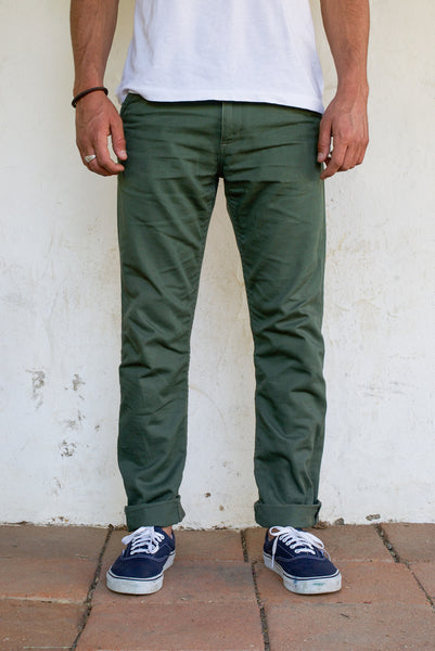 Freenote Cloth | Workers Chino Slim Fit - Drab Olive | $210