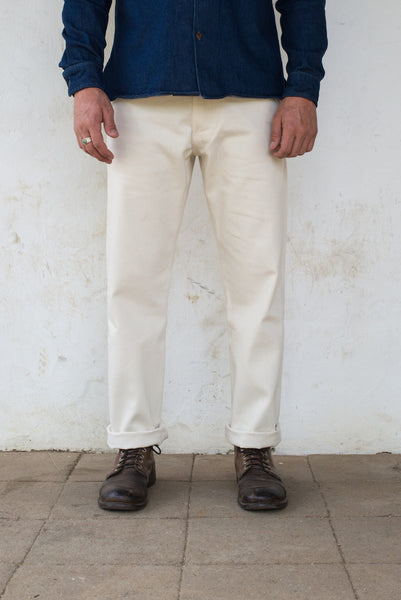 Freenote Cloth | Workers Chino Classic Fit - Natural Denim | $220