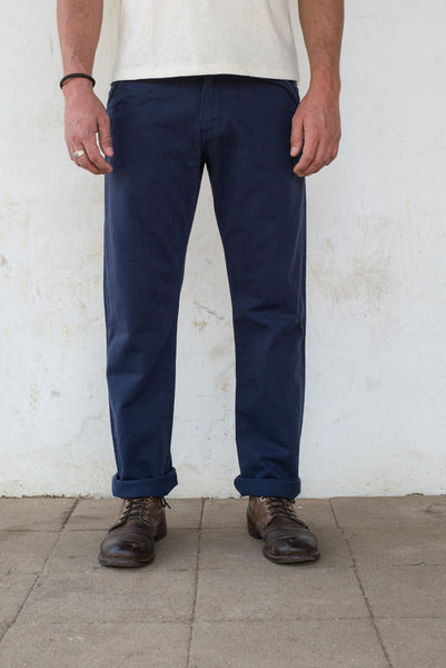 Freenote Cloth | Workers Chino Classic Fit - Navy | $220