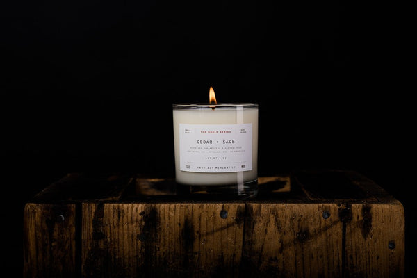 MANREADY Cedar and Sage Candle