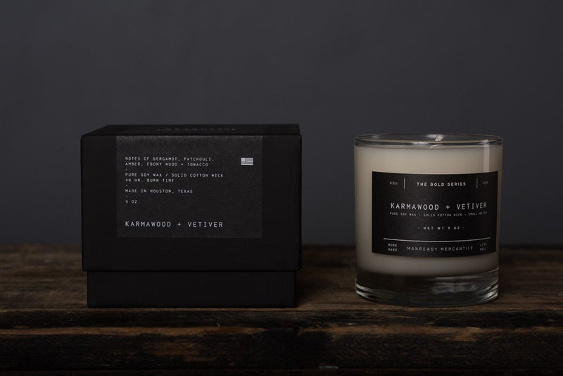 MANREADY Karmawood and Vetiver Candle