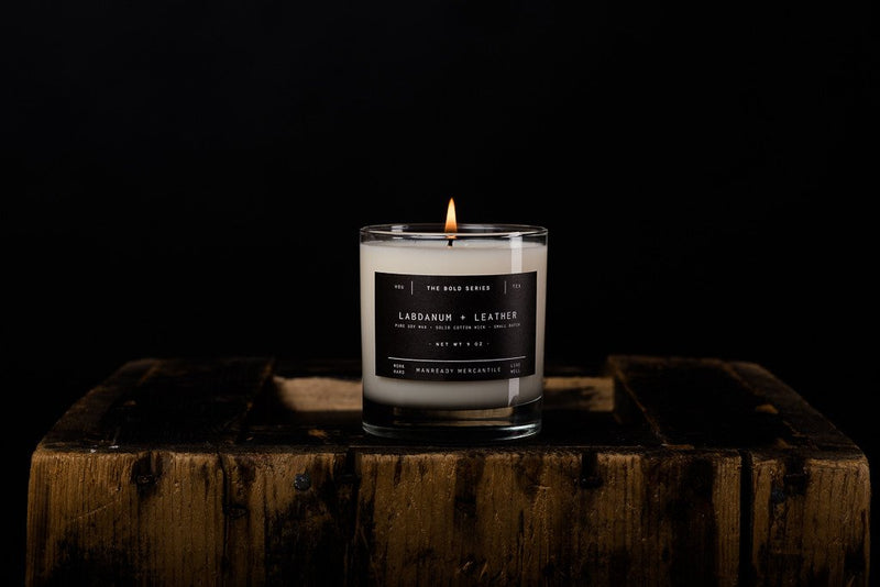 MANREADY Labdanum and Leather Candle