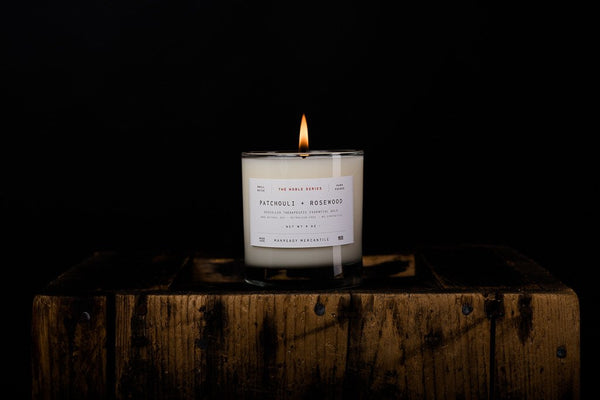 MANREADY Patchouli and Rosewood Candle