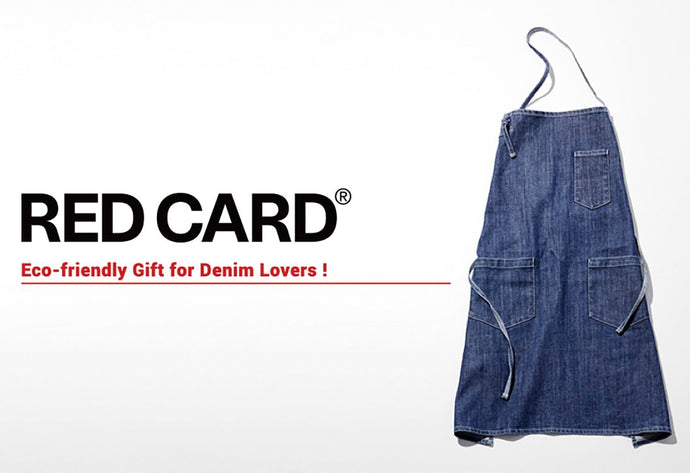 RED CARD DENIM APRON PRESENT