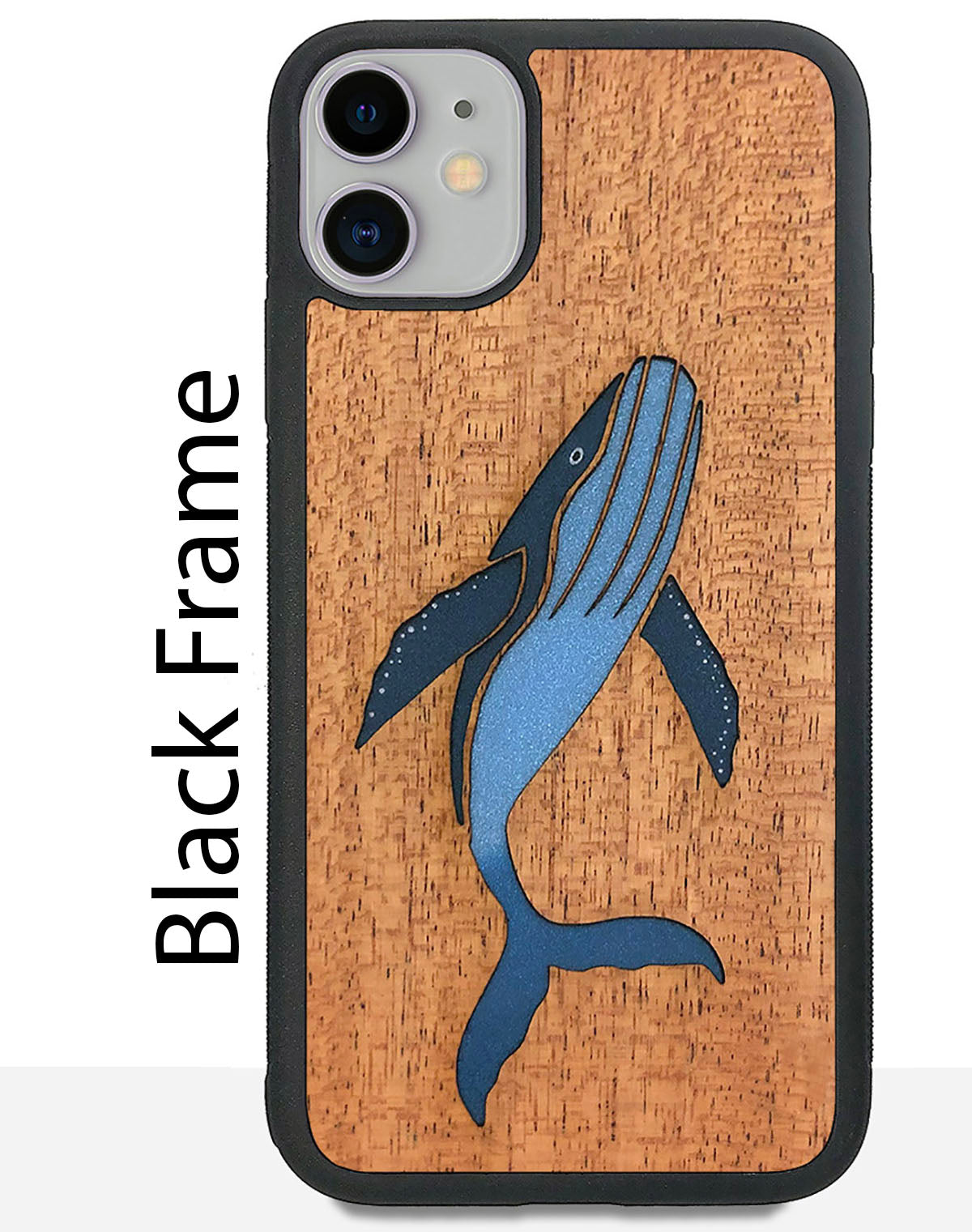 FossilForm Humpback whale wood iphone case