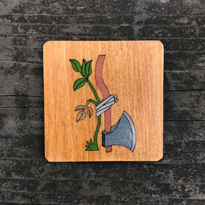 Axe & Plant - FossilForm drink coaster