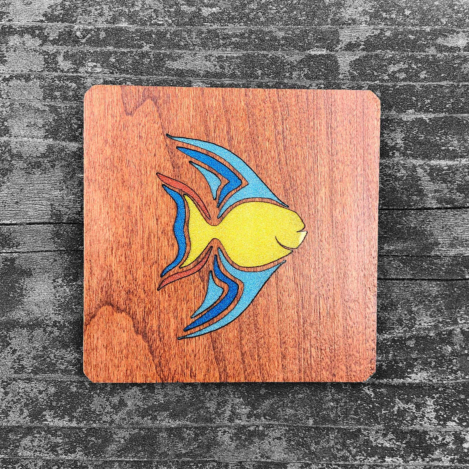 Colorful Fish - FossilForm drink coaster