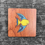 Load image into Gallery viewer, Colorful Fish - FossilForm drink coaster