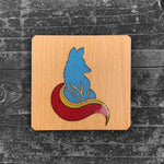 Load image into Gallery viewer, Little Fox FossilForm drink coaster