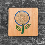 Load image into Gallery viewer, Minimalist Flower - FossilForm drink coaster