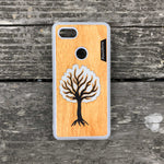 Load image into Gallery viewer, Black Tree - Wood & Resin Case - White