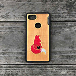 Load image into Gallery viewer, Fox - Engraved Wood & Resin Case - Black