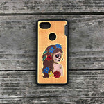Load image into Gallery viewer, Day of the Dead Girl - Engraved Wood & Resin Case - Black
