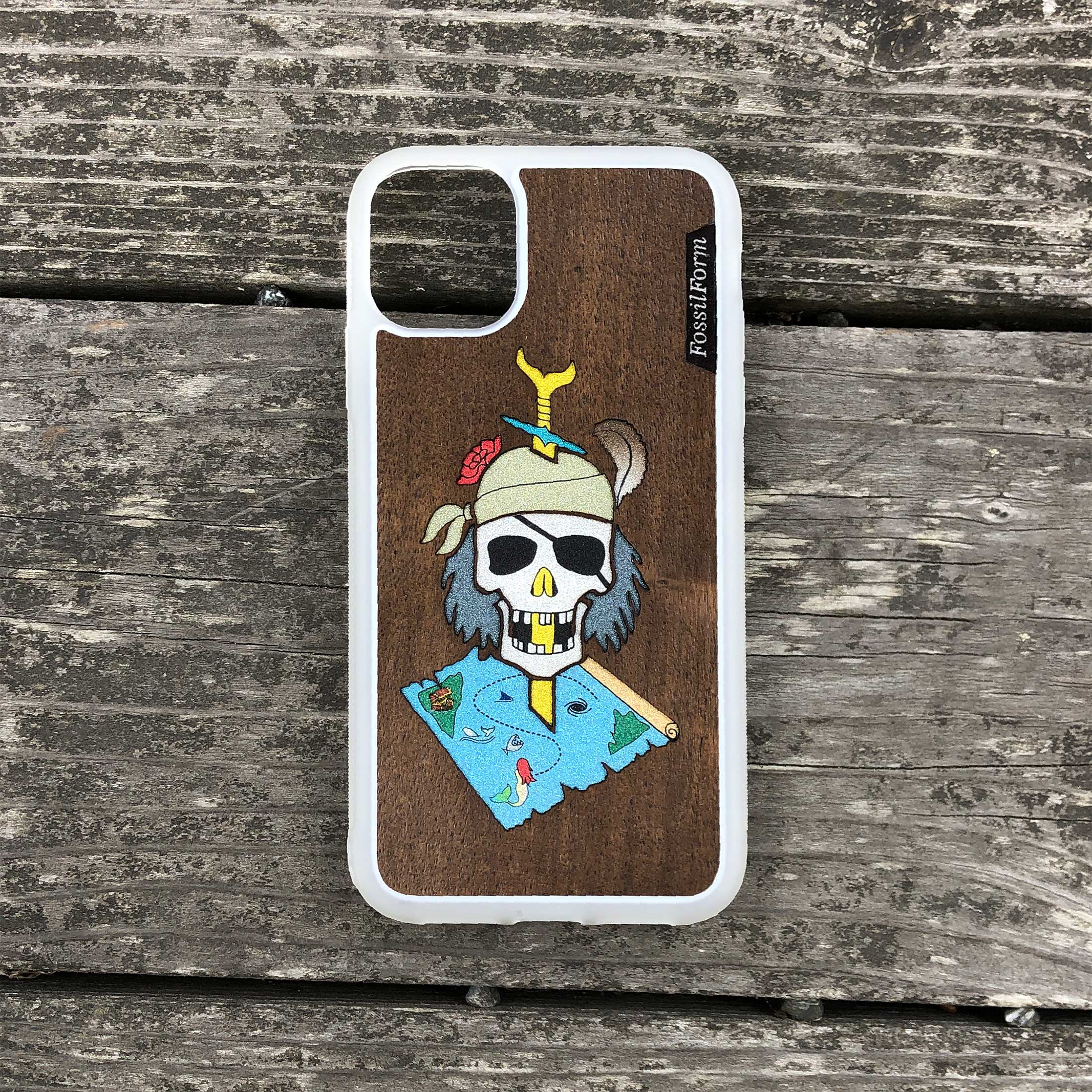 Dead Pirate - Wood & Resin Case - White