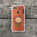 Load image into Gallery viewer, Minimalist Flower - Wood & Resin Case - White