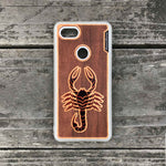 Load image into Gallery viewer, Scorpion - Engraved Wood & Resin Case - White