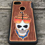 Load image into Gallery viewer, Ghost Pirate Ship - Engraved Wood & Resin Case - Black