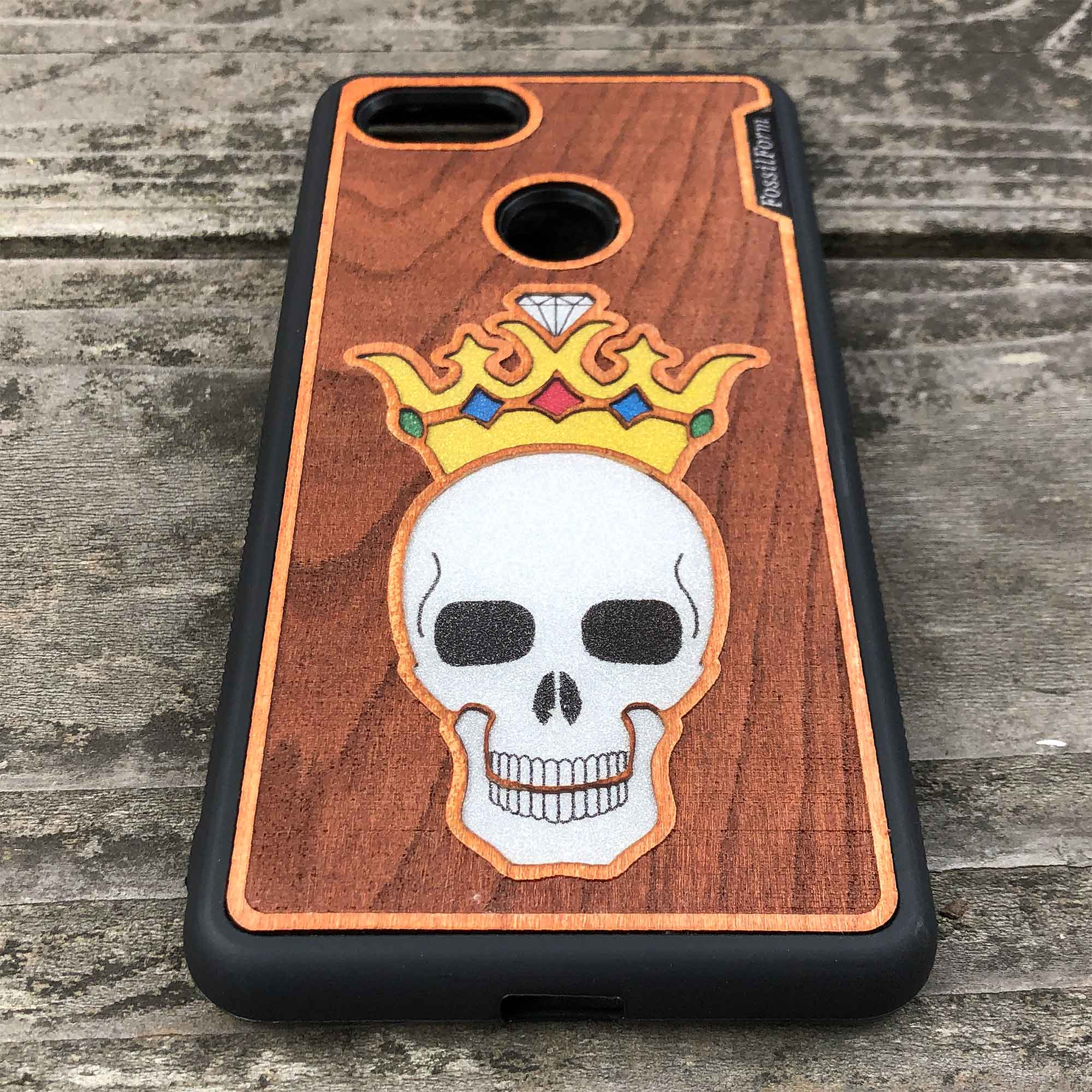 Forever King - Engraved Wood & Resin Case - Black
