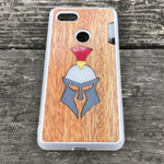 Load image into Gallery viewer, Gladiator Helmet - Wood & Resin Case - White