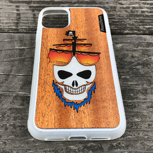 Ghost Pirate Ship - Wood & Resin Case - White