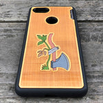 Load image into Gallery viewer, Axe & Plant - Engraved Wood & Resin Case - Black