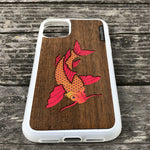 Load image into Gallery viewer, Koi Fish - Wood & Resin Case - White