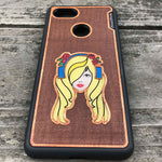 Load image into Gallery viewer, Music Girl - Engraved Wood & Resin Case - Black