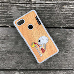 Load image into Gallery viewer, Drinking Skeleton - Wood & Resin Case - White
