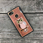 Load image into Gallery viewer, Owl - Engraved Wood & Resin Case - Black
