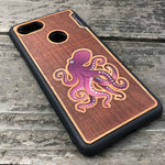 Load image into Gallery viewer, Octopus - Engraved Wood & Resin Case - Black