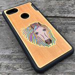 Load image into Gallery viewer, Horse - Engraved Wood & Resin Case - Black