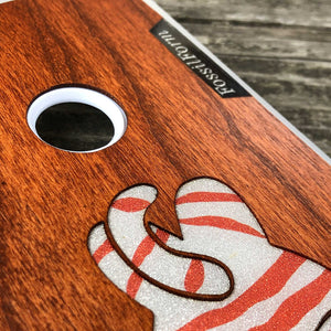 Lazy Cat - Wood & Resin Case - White