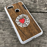 Load image into Gallery viewer, Spider and Heart - Wood & Resin Case - White